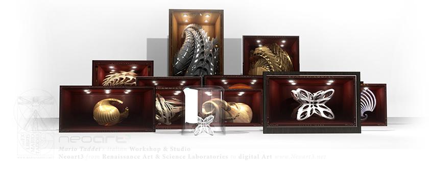 2013 Neoart3 wunderkammer Gallerie d'Italia Mario Taddei setup1l