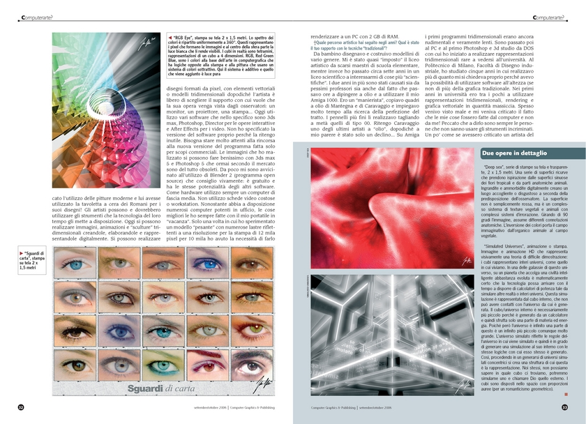 Neoart3 reviews -  Graphics e publishing ART Mario Taddei intervista